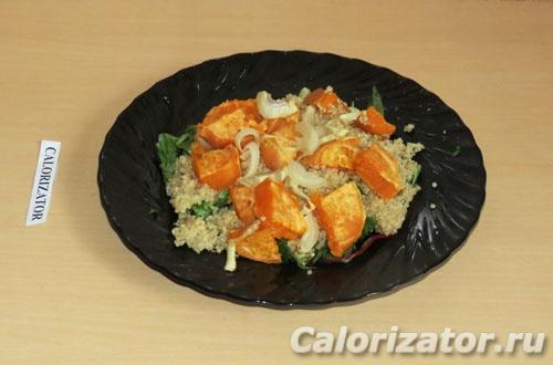 Тёплый салат с бататом