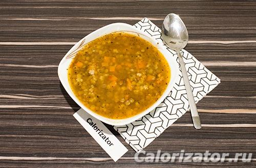 Итальянский суп с чечевицей и пастой
