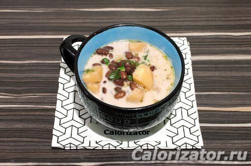 Суп из фасоли со сливками
