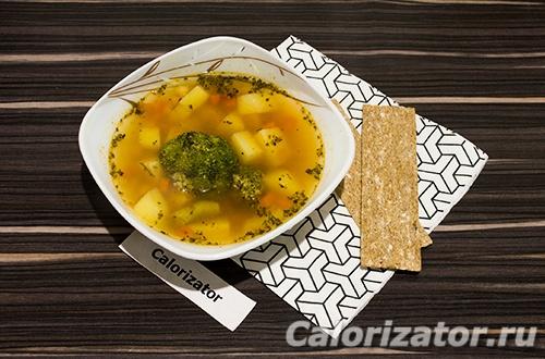 Суп с брокколи и нутом