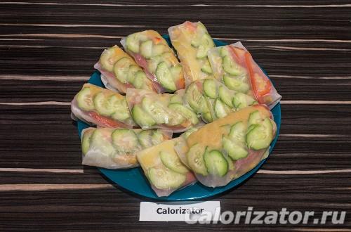 Спринг-роллы с чечевицей и овощами