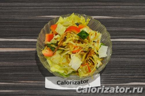 Овощной салат с картофелем пай