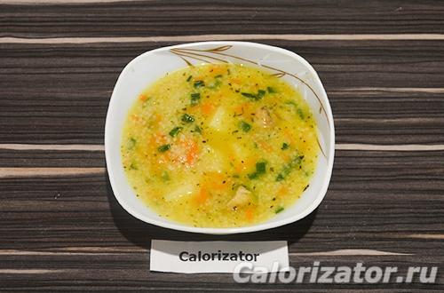 Суп с кус-кусом и шампиньонами