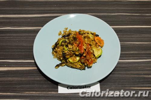 Полба с запеченными овощами