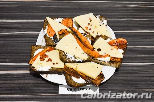Бутерброды с запеченной морковью