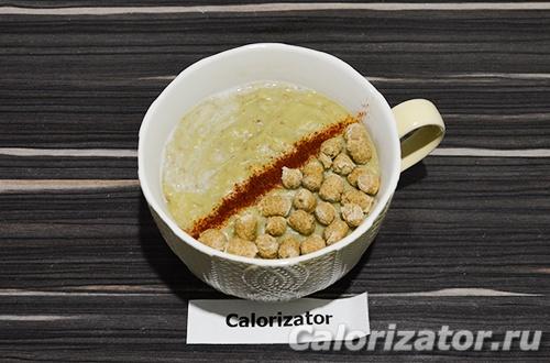 Суп-пюре из зеленой гречки с овощами