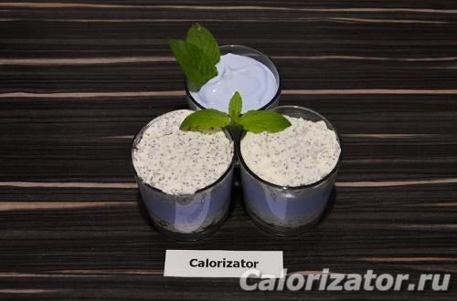 Творожный десерт Блю Кюрасао