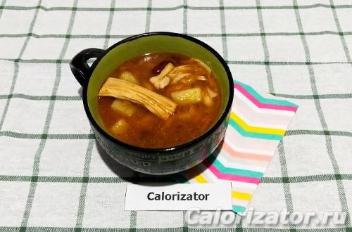 Суп с соевой пастой
