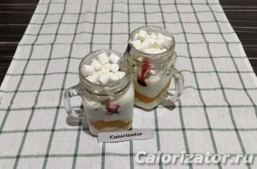 Слоеный десерт с маршмеллоу