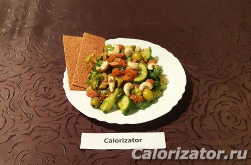 Легкий салат с красной рыбой ПП
