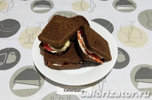Горячий сэндвич пикантный