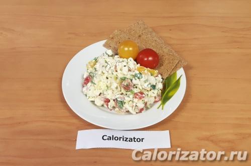 Белковый салат с крабовым мясом