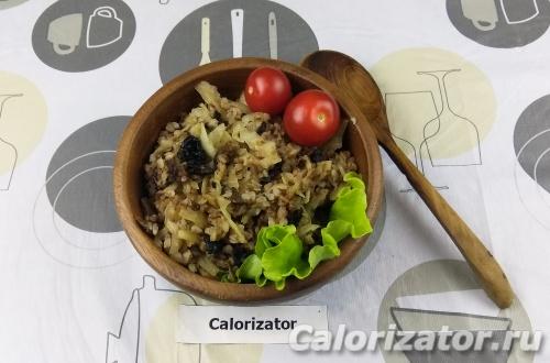 Гречневая каша с капустой и грибами - как приготовить, рецепт с фото по шагам, калорийность.