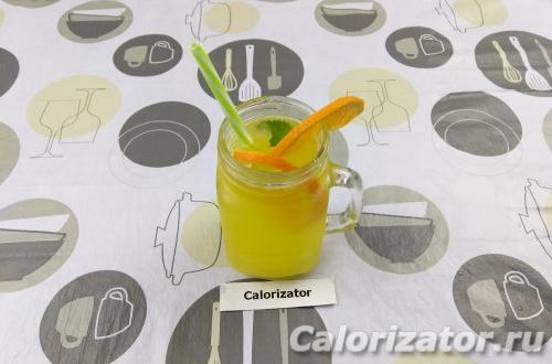 Апельсиновый лимонад с мятой