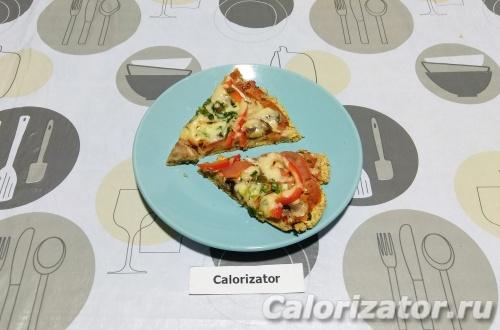 Вегетарианская пицца из нута