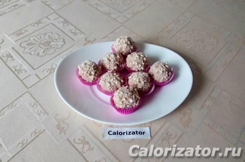 Яблочные конфеты из рисовых хлебцев и творога