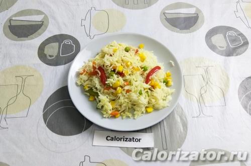 Простой гарнир из риса и овощей