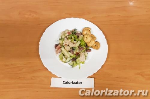 Салат ПП с фасолью и куриной грудкой