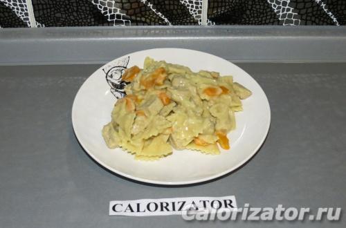 Сливочная паста с овощами