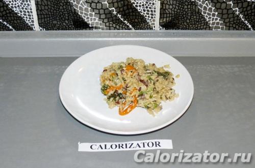 Рис с тофу и овощами