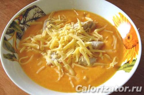 Суп-пюре из тыквы с курицей