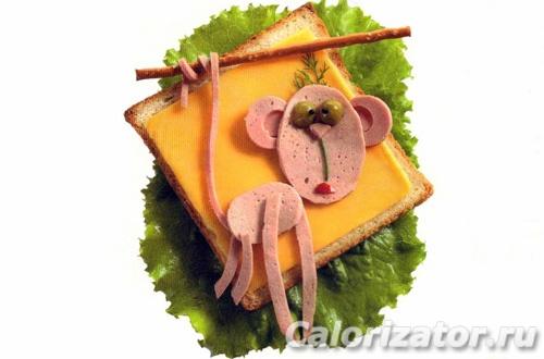 Бутерброд Обезьянка