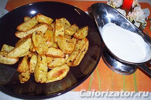 Картофель печеный с травами