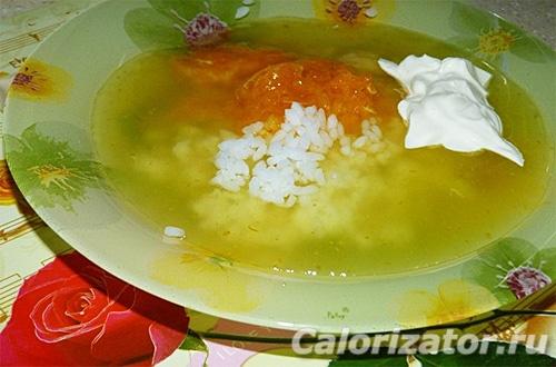 Пикантный суп с мандаринами
