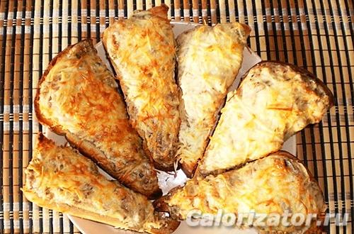 Горячий бутерброд с сардинами