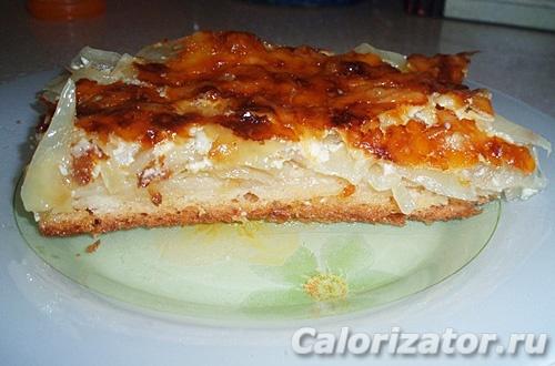 Луково-капустный пирог