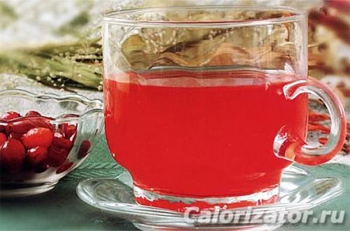 Имбирный чай с клюквой