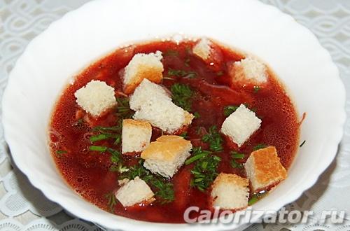 Свекольный суп из кролика