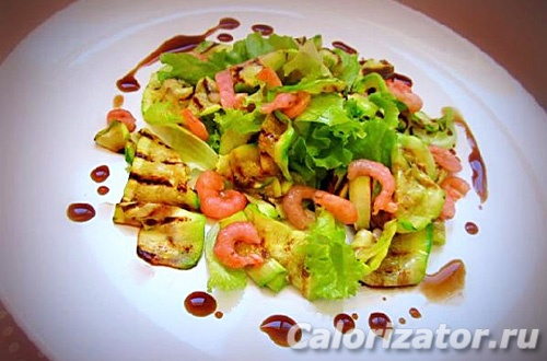 Салат с кабачками на гриле