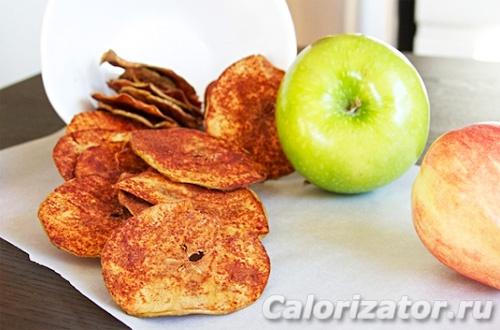 Яблочные чипсы домашние