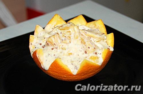 Мороженое в апельсине