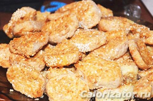 Сырные печенья в аэрогриле