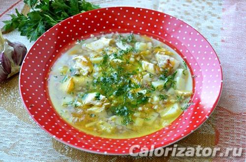 Гречневый суп с курицей - как приготовить, рецепт с фото по шагам, калорийность.