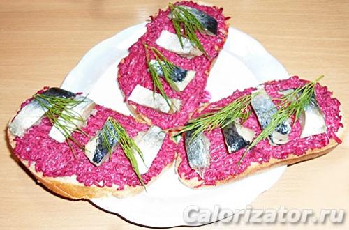 Бутерброд с сельдью