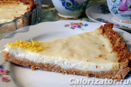 Лимонный пирог с рикоттой