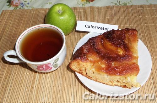 Яблочный пирог с карамелью