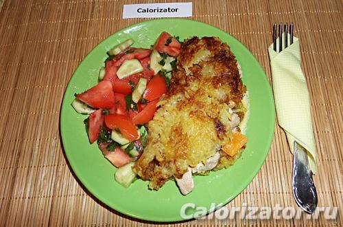 Картофельный блин с начинкой