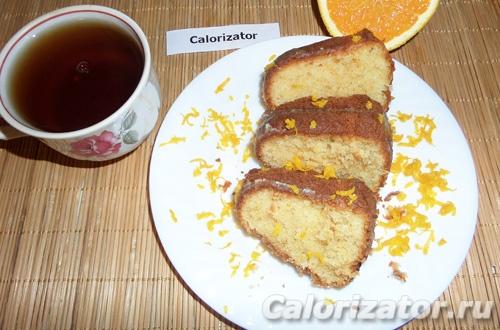Апельсиновый кекс в глазури