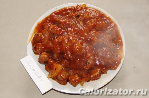 Красный соус из соевого гуляша