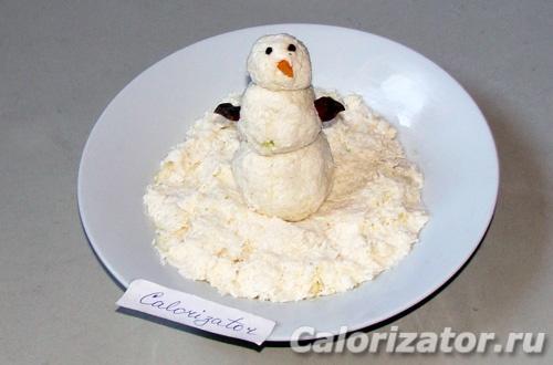 Зимний снеговик (новогодний)