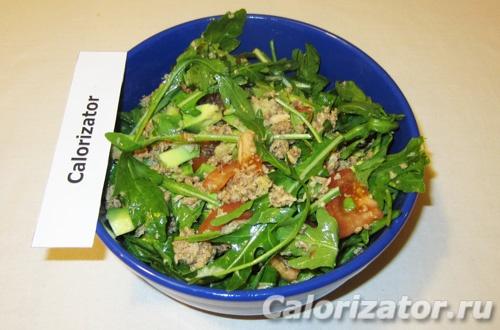 Салат из авокадо и тунца