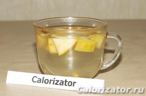 Имбирно-яблочный компот - как приготовить, рецепт с фото по шагам, калорийность.
