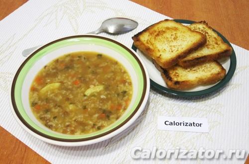 Суп из чечевицы и риса