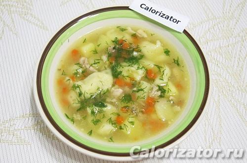 Суп из курицы с клецками