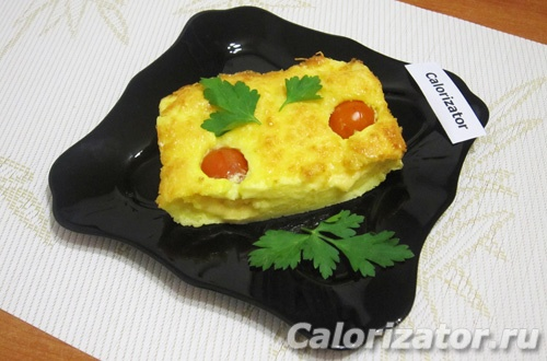 Сыр в омлете