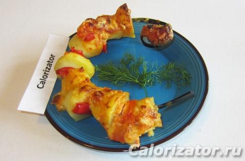 Шашлык из картофеля и овощей